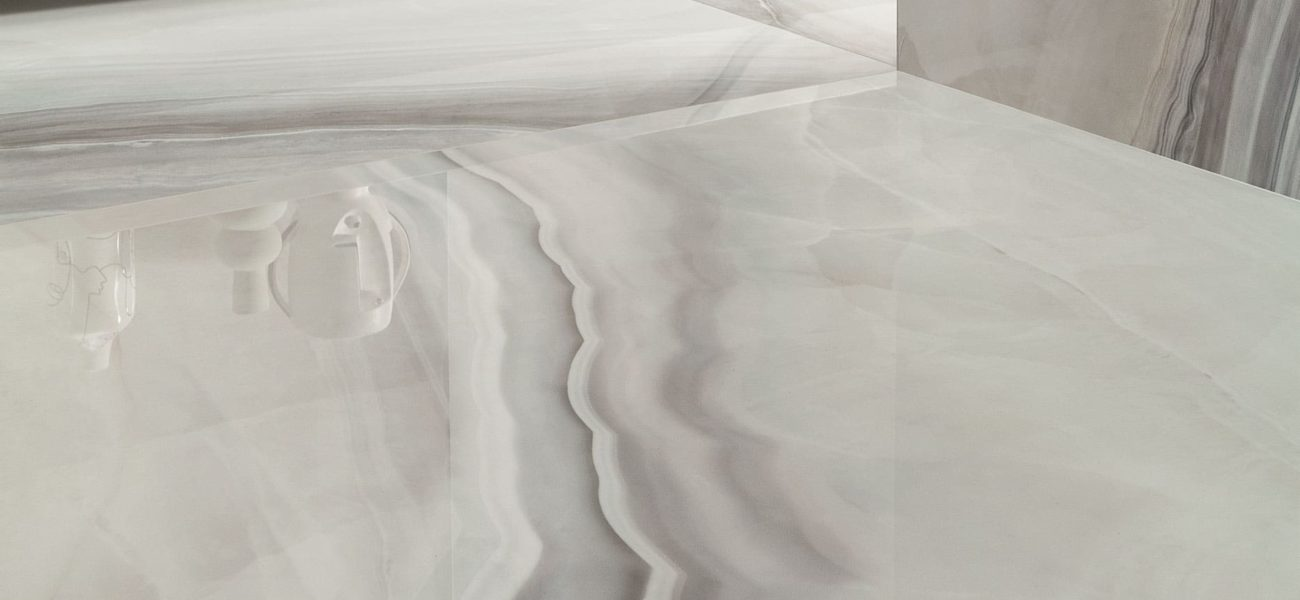 Opal White 120x120cm off-white marble polished tile from Poland.